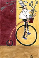 French Chef Bicycle Fine-Art Print