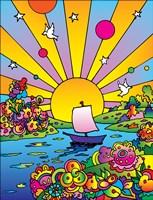 Cosmic Boat Color Framed Print