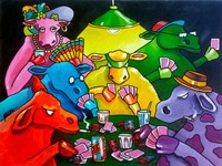 Cows Poker Fine-Art Print