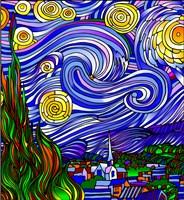 Starry Night 1 Fine-Art Print