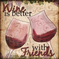 Wine With Friends II Fine-Art Print