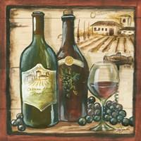 Wooden Wine Square I Fine-Art Print