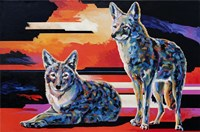 Two Coyotes Fine-Art Print