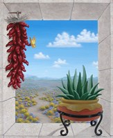 Aloe and Chilis II Fine-Art Print