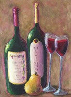 Wine and Pear for Two Fine-Art Print