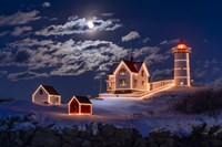 Moon Over Nubble Fine-Art Print