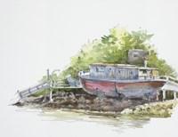 Houseboat on the Shore Fine-Art Print