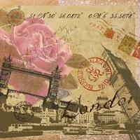 Latitude and Longitude Travel to London Fine-Art Print