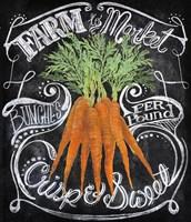 Chalkboard Carrots Framed Print
