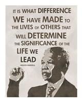 The Life We Lead - Nelson Mandela Fine-Art Print