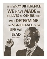 The Life We Lead - Nelson Mandela Fine-Art Print