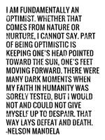 Optimist - Nelson Mandela Quote Fine-Art Print