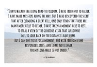 Road to Freedom - Nelson Mandela Quote Fine-Art Print