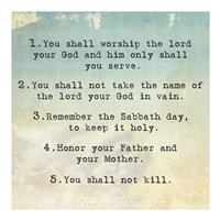 Ten Commandments 1-5 Fine-Art Print