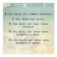 Ten Commandments 6-10 Fine-Art Print