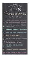 The Ten Commandments - Chalkboard Fine-Art Print