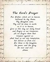 The Lord's Prayer - Script Fine-Art Print