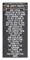 The Lord's Prayer - Chalkboard Style Fine-Art Print