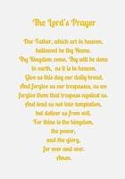 The Lord's Prayer - Gold Fine-Art Print