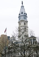 City Hall (flag) (Color) Fine-Art Print