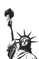 Statue of Liberty (outline) Fine-Art Print