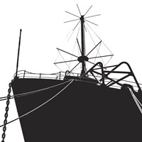 Ship Bow (silhouette) Fine-Art Print