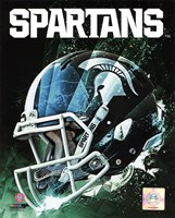 Michigan State Spartans Helmet Composite Fine-Art Print