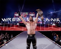 Seth Rollins with the Championship Belt Wrestlemania 31 Fine-Art Print