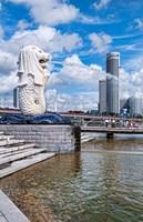 City Skyline, Fullerton, Clarke Quay, Singapore Fine-Art Print