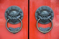 Pair of Door Knockers, Buddha Tooth Relic Temple, Singapore Fine-Art Print