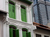 Modern Buildings and Older Ones in Singapore Fine-Art Print