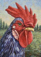 Blue Rooster Fine-Art Print
