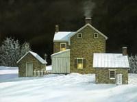 Door Yard Snow Fine-Art Print