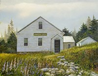 Lupines At The School Fine-Art Print