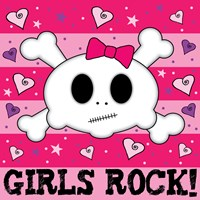 Girls Rock- Skull Fine-Art Print