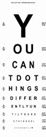You Can't Do Things Differently  - Eye Chart 1 Fine-Art Print