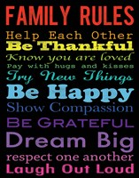 Family Rules 4 Fine-Art Print