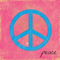 Peace Blue and Pink Fine-Art Print