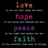 Love Hope Peace Faith 3 Fine-Art Print