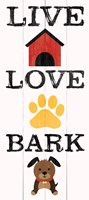 Live Love Bark Fine-Art Print