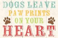 Dogs Leave Paw Prints 1 Fine-Art Print