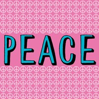 Peace - Blue and Pink Fine-Art Print