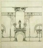 Design for the Boutique of Jeweller Fouquet, 6, Rue Royale Fine-Art Print