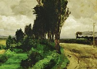 Railway in a landscape, 1890-95 Fine-Art Print