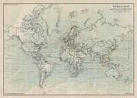 Ocean Current Map I Fine-Art Print