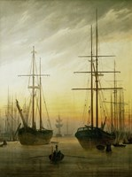 Ships in the Harbour, 1774-1840 Fine-Art Print