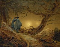 Two Men Observing the Moon, 1819-1820 Fine-Art Print
