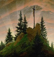 The Cross in the Mountains  1807-1808 Fine-Art Print