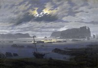 Northern Sea by Moonlight Fine-Art Print