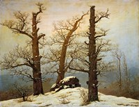 Megalithic Cairn in the Snow, c. 1820 Fine-Art Print